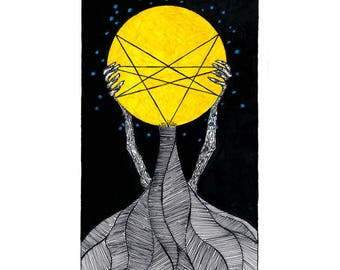 Ace of Stars - Ace of Pentacles - Poster Print - The Tarot Restless