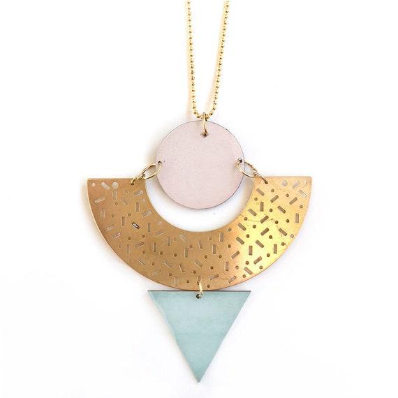 Memphis formica necklace