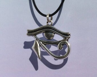 Eye of Horus Necklace, All Seeing Eye Necklace, Vaporwave Jewelry, Pastel Goth Accessory