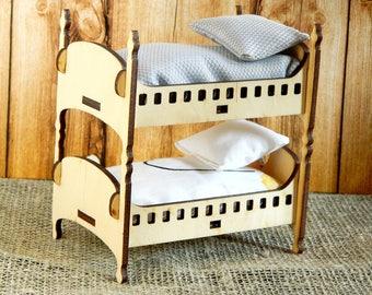 Etagenbett Puppen Holz : Puppenbett aus holz bastelanleitung avec puppenhochbett selber