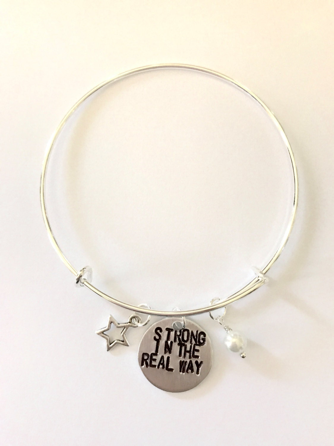 Steven Universe Pearl Inspired Bangle - Strong in the Real Way