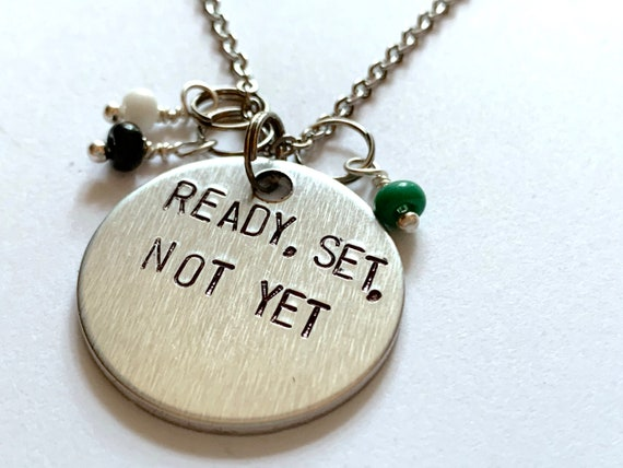 Ready Set Not Yet Necklace Inspired By Beetle Juice Etsy