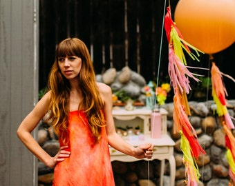 Eleanor Balloon with Fringe, Geronimo Balloon, Giant Balloon with Tassels, Balloon with Tassel Garland, Modern Party Decor, Boho Wedding