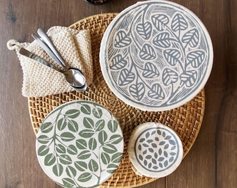Dish and Bowl Covers Mini Set of 3 : variety of small sizes reusable fabric bowl covers
