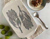 Dish and Casserole Cover Rectangle Protea Print cloth cover for a casserole dish