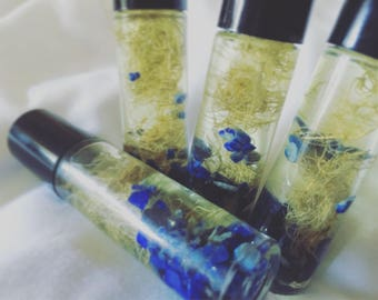 Goddess of Wisdom Essential Oil Blend with Herbs and Crystals