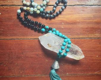 Custom Gem Stone Crystal Mala Prayer Beads