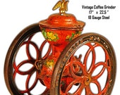 Vintage Coffee Grinder Laser Cut Out Reproduction Sign 17 quot x22.5 quot RG8606S