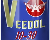 Veedol Motor Oil Can Reproduction Gas Station Metal Sign 12x18 RVG250