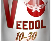 Veedol Gas Station Reproduction Motor Oil Can Metal Sign 12x18 RVG251