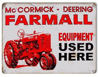 "McCormick FARMALL Cub International Harvester Tractor Retro Vintage Sign 9/""x12/"""
