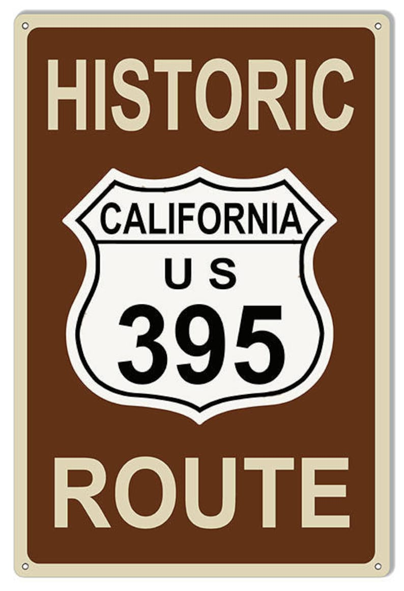 California US Route 395 Highway Garage Shop Metal Sign 12