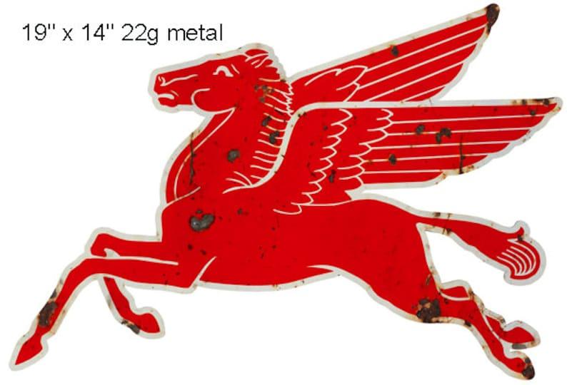 Pegasus Flying Horse Laser Cut Out Garage Shop Metal Sign 14x19 22g Steel RG9812P