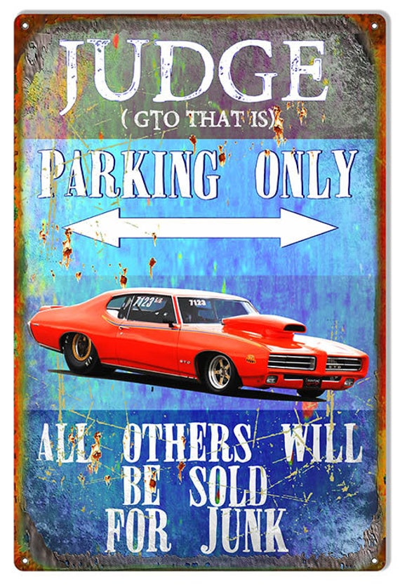 GTO PARKING ONLY ALUMINUM STREET SIGN