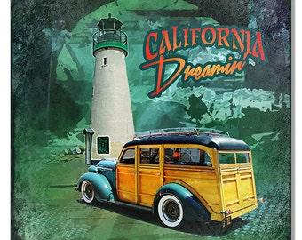 California Dreamin 12''x 12'' sign RG7690