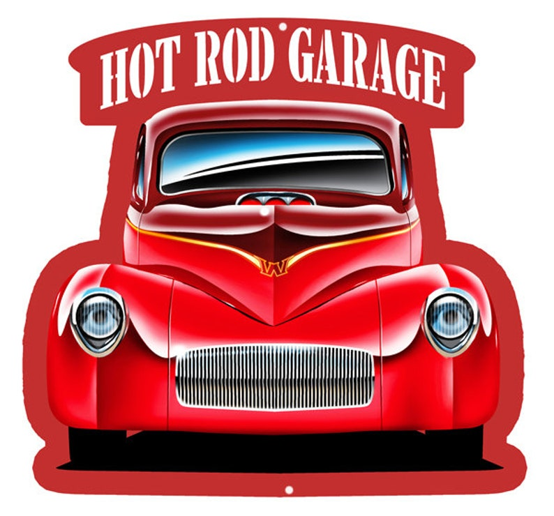 Voitures Art Rod Garage 17 3d Métal Hot Signe 18 X Cut Out Effet ArticleRvg989s N8nv0mw