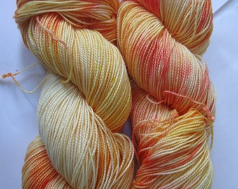 "Hand dyed sock yarn - Socked (80% Merino / 20 Nylon) - ""Sunburst"""