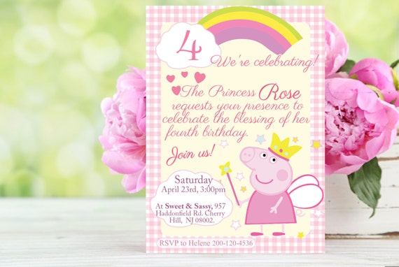 New Free Printable Peppa Pig Birthday Invitations And Party Customizable Princess Or George Dinosaur Pink