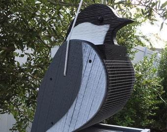 Amish Handcrafted Chickadee Bird Feeder