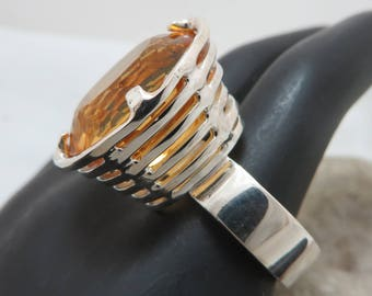 Extravagant with Golden citrine sterling silver ring