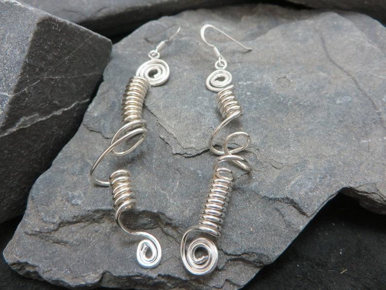 Sterling Silver long earrings