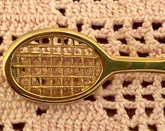 Vintage Tennis Racket Pin from the early 1970's