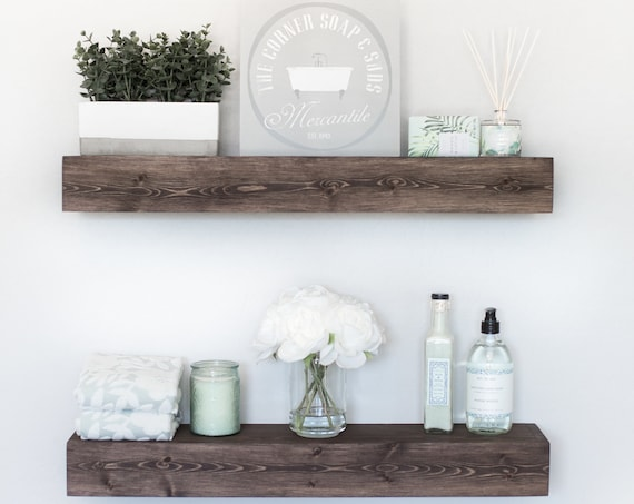 Floating Shelf | Rustic Floating Shelf | Ledge Shelf | Wooden Floating Shelf | Floating Shelves | Farmhouse Decor | Chunky Shelves |