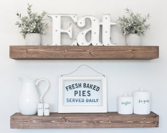 FREE SHIPPING | Floating Shelf | Rustic Floating Shelf | Ledge Shelf | Wooden Floating Shelf | Floating Shelves | Farmhouse Decor