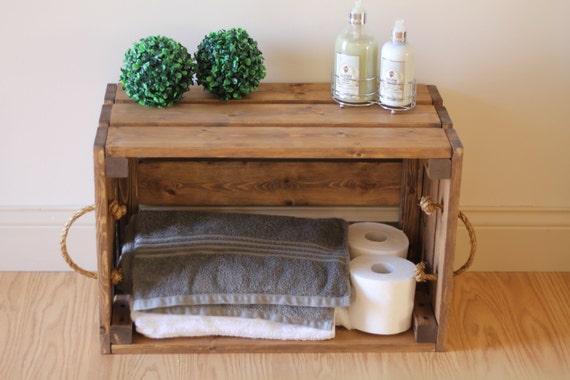 Items Similar To Rustic Wooden Crate Rustic Bathroom