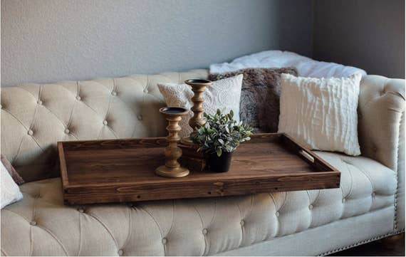 Rustic Wooden Ottoman Tray, Ottoman Tray, Wooden Tray, Rustic Home Decor, Serving Tray, Farmhouse Decor, Wood Tray, Farmhouse Tray