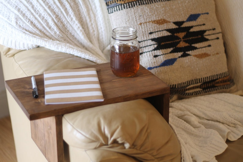 Rustic Sofa Arm Rest Table Couch Tray Arm Rest Tray Etsy