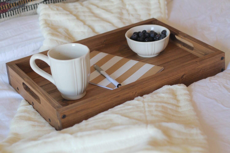 plateau ottoman en bois rustique ottoman plateau plateau en. Black Bedroom Furniture Sets. Home Design Ideas