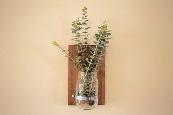Rustic Mason Jar Wall Sconces, Mason Jar Decor, Wall Sconces, Rustic Decor, Wooden Wall Sconces, Rustic Wall Decor, Farmhouse Decor