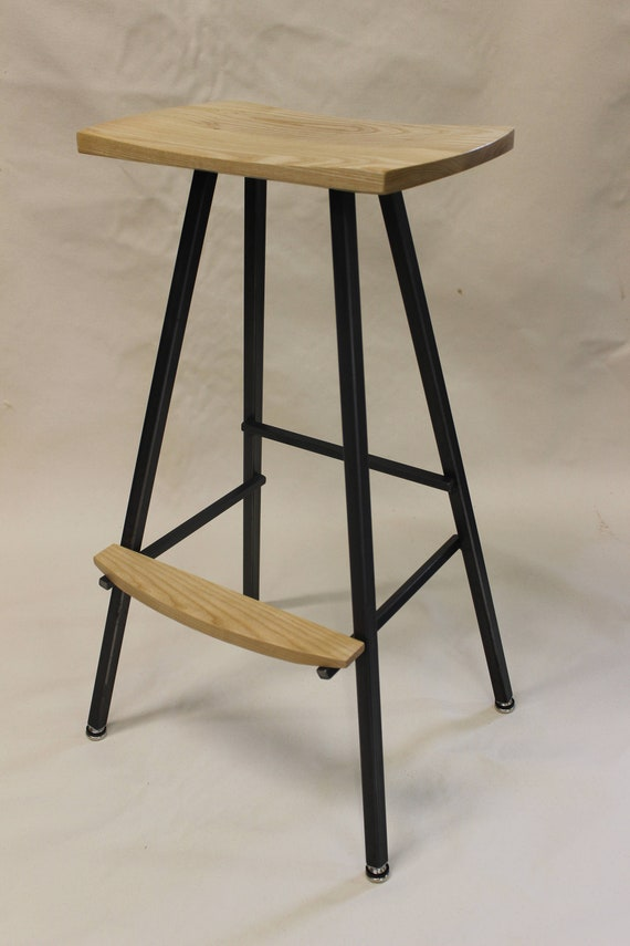 Peachy Modern Industrial Bar Stool Or Kitchen Stool Both Durable Comfortable We Hand Make These Stools In Our Small Shop In Vermont Barstool Caraccident5 Cool Chair Designs And Ideas Caraccident5Info