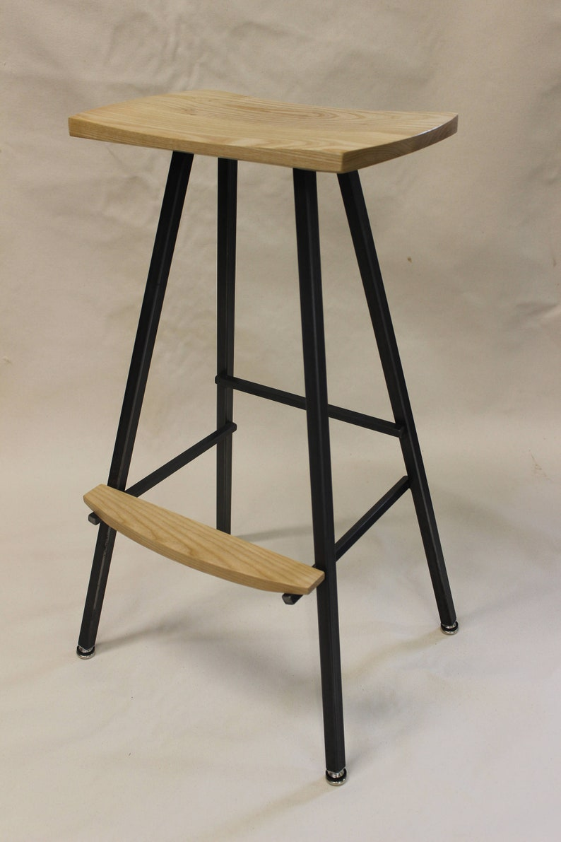 Modern, Industrial Bar Stool Or Kitchen Stool. Both Durable U0026 Comfortable.  We Hand Make These Stools In Our Small Shop In Vermont. Barstool.