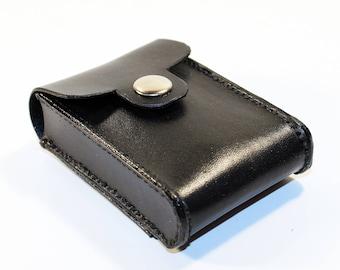 77d897255e7 Credit Card houder leder, Business Card Holder, zwart leder Credit Card  portemonnee, Black-kaarthouder. Geweldig cadeau.