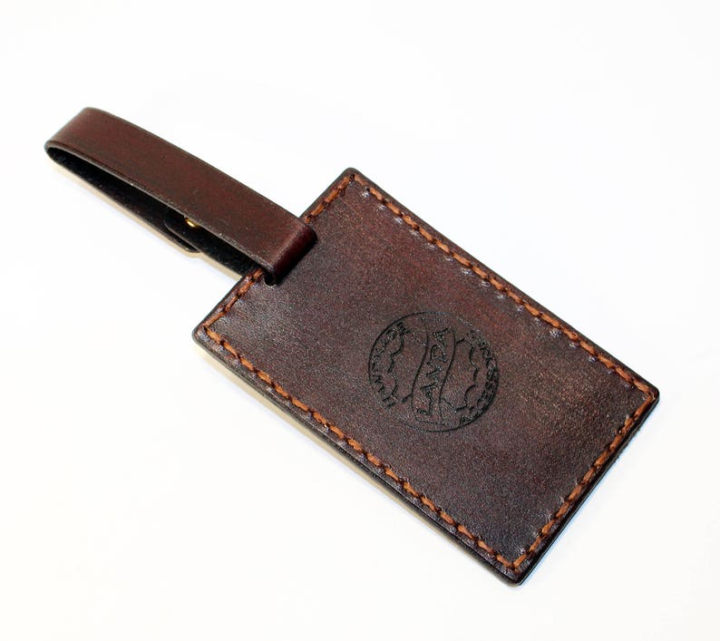 Luggage Tag,Business Card Cover Bsiness ID Card Cover. Leather Luggage Tag Cover Leather Card Tag ID Card Holder Brown ID Card Cover
