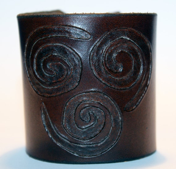 Leather Cuff With Air Nomad Symbol From Avatar The Last Etsy