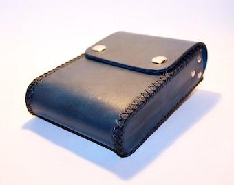 Belt Pouch! Leather Handmade Pouch! Blue Belt Purse! Belt Bag! Hip Bag! Medieval Pouch! Leather Bag! Leather Purse!