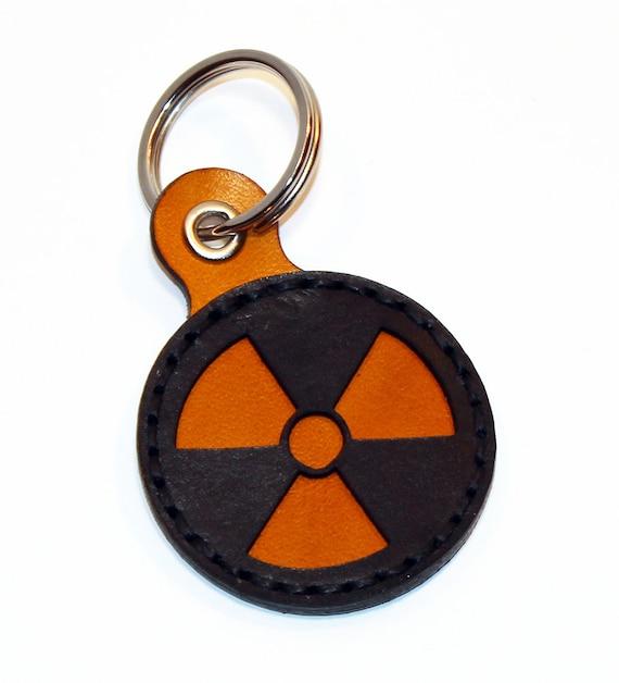 Radiation Hazard Symbol Keychainclear Keychain Radiation Etsy