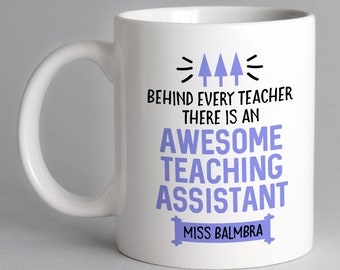 Personalised Teacher//Classroom  Assistant Gift//Decoration with FREE GIFT BAG