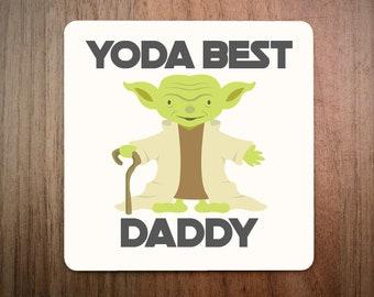 Yoda Best DAD Coaster Star Wars Galaxy Daddy Father Present Gift Stocking Filler