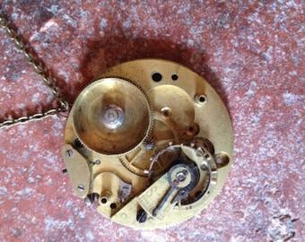 Vintage pocket watch pendant