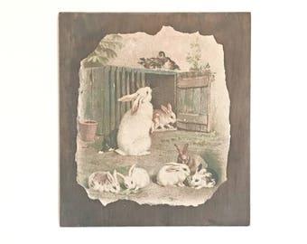 Easter Bunny Art - Farmhouse Easter - Easter Decorations - Farmhouse Decor - Easter Bunnies - Easter Decor - Vintage Easter - Shabby Easter