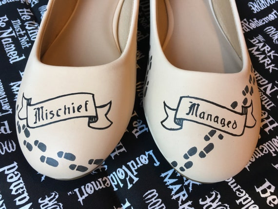 Mischief Managed Harry Potter Marauders Map Shoes Etsy