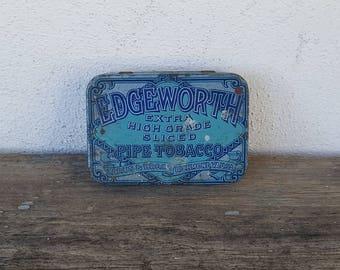 Vintage Edgeworth Pipe Tobacco Metal Tin & Vintage RJ Reynolds Tobacco Co. Smokinu0027 Joeu0027s Racing