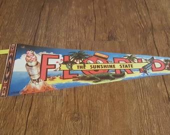 Vintage Florida 1970s Pennant - The Sunshine State