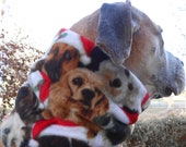 Christmas dog snood scarf; dogs or cats w/ Santa hats, paws, birds, ugly sweater & other holiday styles