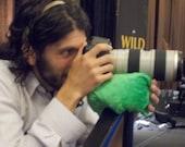 Large photography bean bag; big, flexible beanie props camera, binoculars, ipad, etc.; stuffed with real pinto beans