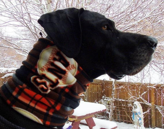 official photos ab507 2e620 Plaid dog neck warmer; SF Giants, Denver Broncos, Chicago Bears, fleece  scarf, neckwarmer snood, gaiter, tube muffler in classic plaids